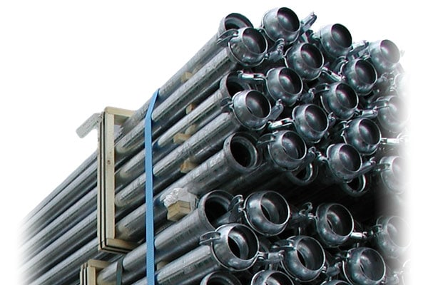 Iron galvanized pipes